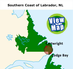 Map of the Southern Coast of Labrador, NL